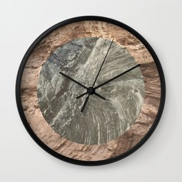 Forever Fossilized Wall Clock