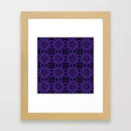 Purple Blue Floral Design Framed Art Print