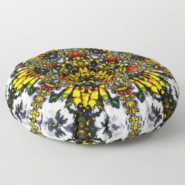 The Tower Of Flowers Floor Pillow