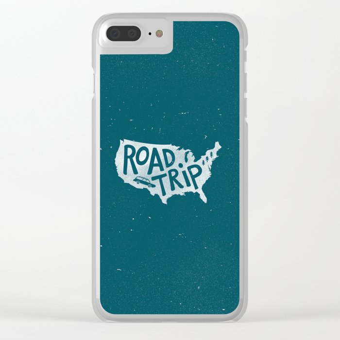 Road Trip USA - reverse Clear iPhone Case