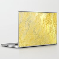 gold foil Laptop & iPad Skins featuring Gold Foil by Sweet Karalina