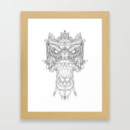 DragonHead Framed Art Print