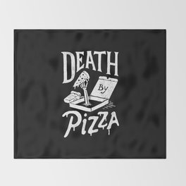 Death by Pizza Throw Blanket