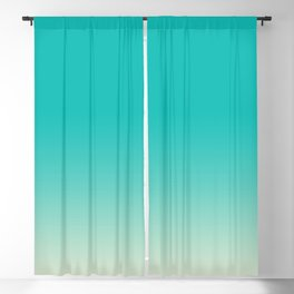 Light to Dark, Dip Dyed, Turquoise Blackout Curtain