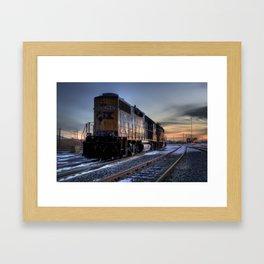 CSX Sunset Framed Art Print