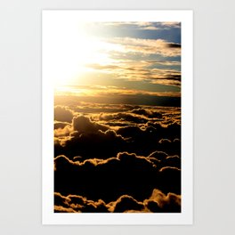 Sunset over the Atlantic Ocean Art Print