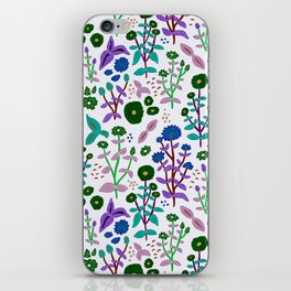 Zinnia blue iPhone Skin