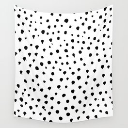 Dalmatian dots black Wall Tapestry