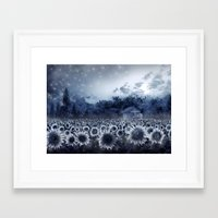 sunflowers Framed Art Prints featuring sunflowers by Bekim ART