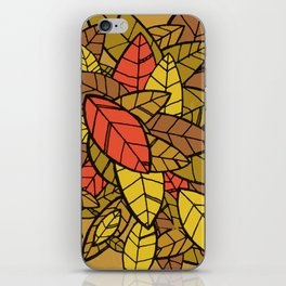 Autumn Memories (a pile of leaves) iPhone Skin