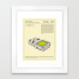 COMPACT HAND-HELD VIDEO GAME SYSTEM Framed Art Print