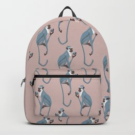 Vervet monkey with pomegranate Backpack