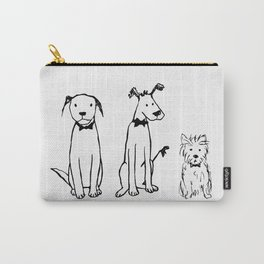 Three dogs Carry-All Pouch