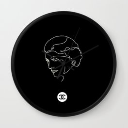 Mademoiselle Coco Silhouette -  Wall Clock