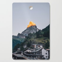 Beautiful Matterhorn in Sunrise Cutting Board