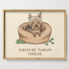 Yorkshire Pudding Terrier Serving Tray