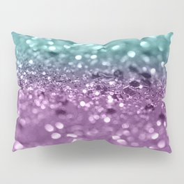 Aqua Purple MERMAID Girls Glitter #2 #shiny #decor #art #society6 Pillow Sham
