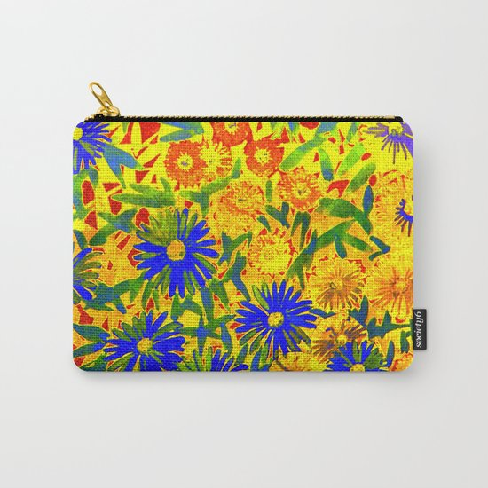 blue flowers by a sunny day Carry-All Pouch
