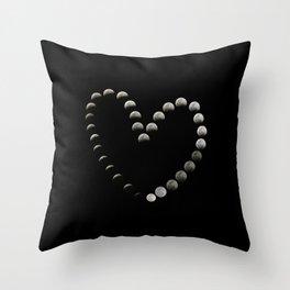 Moon Heart Total Lunar Eclipse Throw Pillow