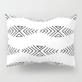 mudcloth 11 minimal textured black and white pattern home decor minimalist beach Pillow Sham