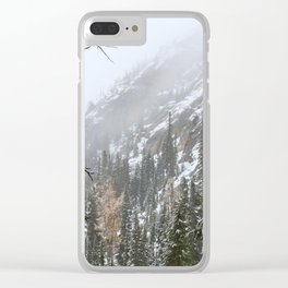 Autumn Mountains Clear iPhone Case