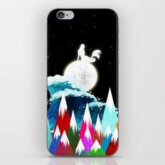 Sirena on the Moon iPhone Skin