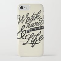 work hard iPhone & iPod Cases featuring Work Hard by Sebastián Andaur