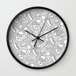 Junk Food Print Wall Clock