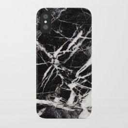 Vintage Black Marble iPhone Case