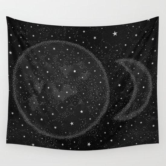 Starry Boho Moons Wall Tapestry