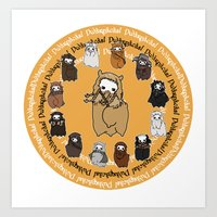 fili Art Prints featuring Dwarpacas(Fili) by Lady Cibia