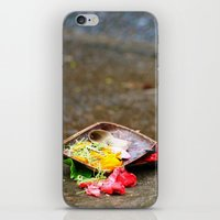 hindu iPhone & iPod Skins featuring Bali - Hindu Prayer Offering by gdesai
