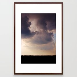 Between drama and bliss Framed Art Print