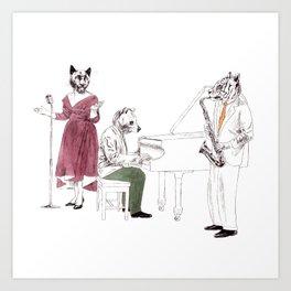 Bestial jazz-band 2 Art Print