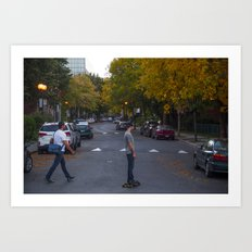 Across the street Art Print