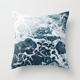 Marble ocean Throw Pillow