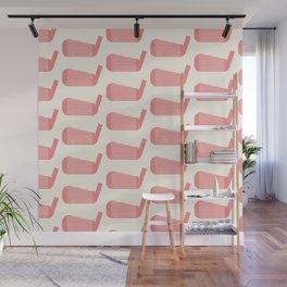 Golf Club Head Vintage Pattern (Beige/Pink) Wall Mural