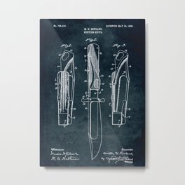 1908 - Hunting knife patent art Metal Print