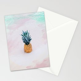 Pineapple on the beach Stationery Cards