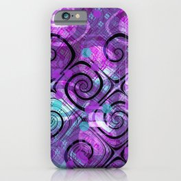 Purple Plaid Twisted Mess iPhone Case
