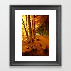 The Golden Path II Framed Art Print