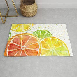 Fruit Watercolor Citrus Rug