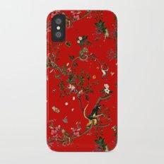 Monkey World Red iPhone X Slim Case