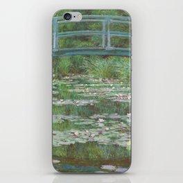 Claude Monet The Japanese Footbridge 1899 Painting iPhone Skin