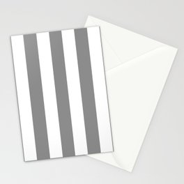 Philippine gray  - solid color - white vertical lines pattern Stationery Cards