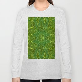 Green Print Long Sleeve T-shirt