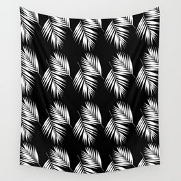 Palm Leaves Pattern #9 #White #Black #decor #art #society6 Wall Tapestry