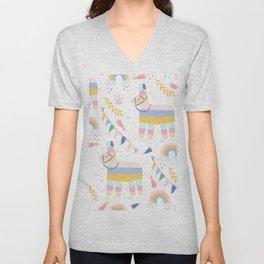 Llama & Rainbows Unisex V-Neck