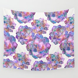 Rosette Succulents – Galaxy Palette Wall Tapestry