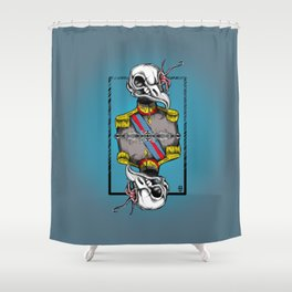 General Bird Skull Shower Curtain